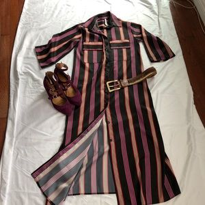 IMPERIAL STAR Striped Shirt Dress